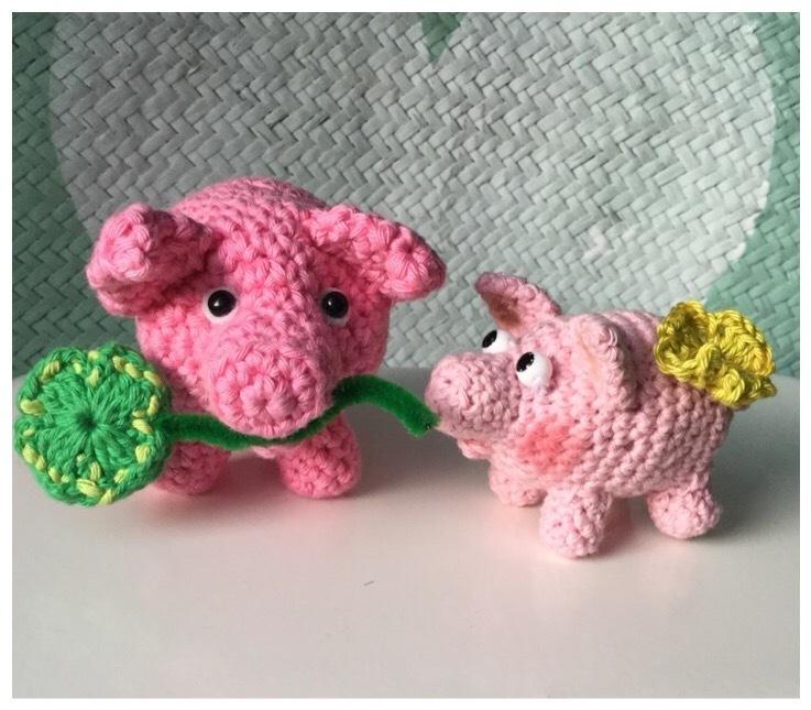 Das schnelle Schwein - Quick Quieky; Häkelanleitung - WollLolli®