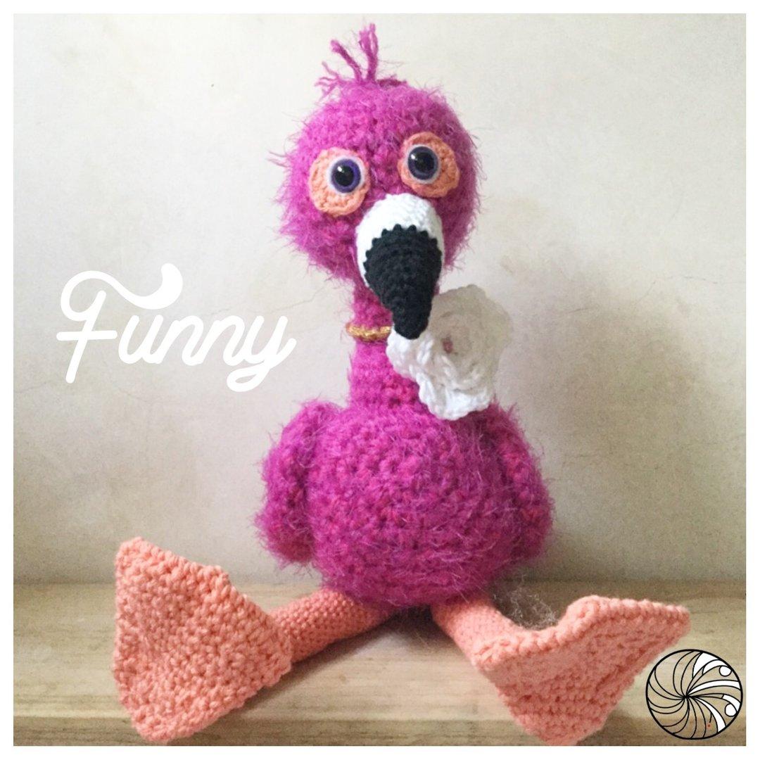 Häkelanleitung Funny Flamingo - WollLolli®